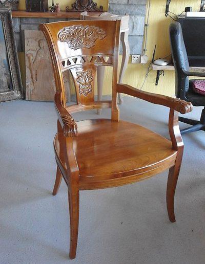 Drvena stolica, duborez