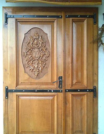 Drvena vrata, duborez