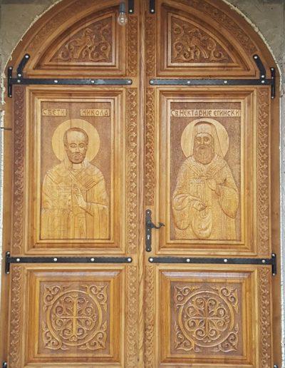 Vrata za hram Hristovog Vaskrsenja, Podgorica
